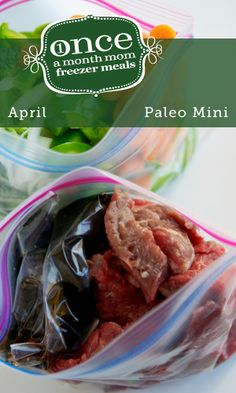 Once a Month Mom Freezer Meals -- April/Paleo Mini Whole30 compliant too! need this for the busy wedding season coming up!!