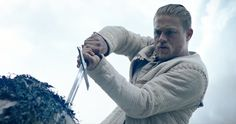 King Arthur Trailer Reveals Charlie Hunnam as the Legendary Knight -- The first footage from director Guy Ritchie's King Arthur: Legend of the Sword has arrived from Comic-Con, and it's insane. -- http://movieweb.com/king-arthur-movie-trailer-2017-legend-of-sword/