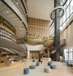 Galeria de Livraria M. China Architecture, Interior Architecture, Interior Design, Condo Design, School Architecture, Harbin, In China, Shopping Mall Interior, Atrium Design