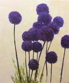 "Daily Paintworks - ""Allium"" by John Shave"