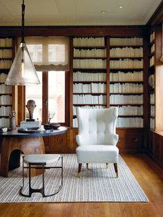 Elegant Aesthetics Speak Volumes: A Beautiful, Classical Library with Electronic Cool by San Francisco Designer, Geoffrey De Sousa