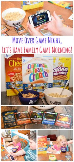 Change it up with family game mornings! You can have a #BigGBattlecast with your kids! Come see the how-to video, and learn about exclusive Skylanders cards in each cereal box! #Battlecast #ad: