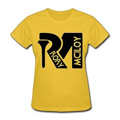 TIKE Women's Champion Golf Rory Rors McIlroy RM Logo Shirts Color Yellow Size L