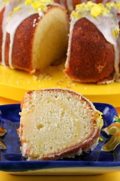 Lavish lemon cake Filled with lemon curd, topped with a sweet lemony glaze, and decorated with lemon drops, this lemon bundt cake is tart and sweet and full of flavor from top to bottom.