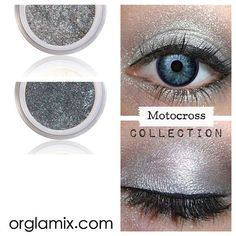 Eyeshadow Kit - Metallic Grey Silver Makeup - Mineral Makeup Eyeshadow - Eye Shadow Kits Palettes - Natural MAC Cosmetics - Eye Makeup Sets by orglamix