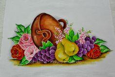 Coisas da Nil - Pintura em tecido: Tacho de frutas