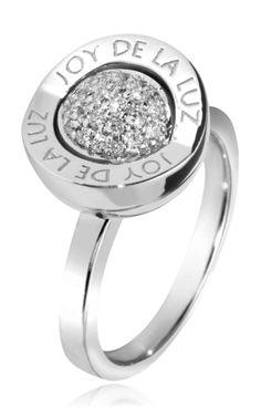 Joy de la Luz | Ring logo silver/cz  €80,00