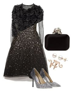 """""""Untitled #28"""" by mariannanna on Polyvore featuring Oscar de la Renta, Alexander McQueen, Elise Dray and Jimmy Choo"""