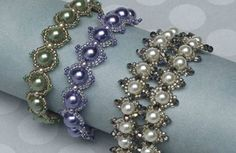 Row-by-row pearls.  Find more projects on BeadAndButton.com