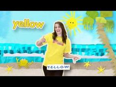 Spelling song video to help kids learn the color songs! Love the animated children's artwork in the background! Perfect for pre-k and kinder Kindergarten Colors, Kindergarten Songs, Preschool Colors, Teaching Colors, Preschool Songs, Kids Songs, Kindergarten Classroom, Preschool Age, Teaching Tips