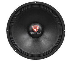 "Rockville RVP15W8 1000 Watt 15"" Raw DJ Subwoofer 8 Ohm Sub Woofer 51OZ Magnet. For product info go to:  https://www.caraccessoriesonlinemarket.com/rockville-rvp15w8-1000-watt-15-raw-dj-subwoofer-8-ohm-sub-woofer-51oz-magnet/"