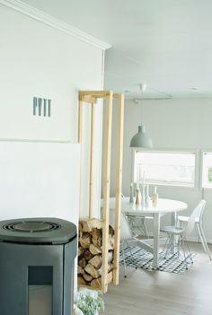 Kitchen. Dining. Wood Burning Fire. Furnace. Logs. Home. Modern. Decor. Interior Design.