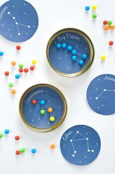 Geduldsspiel mit Sternenbildern zum Ausdrucken