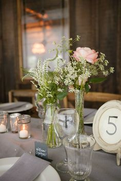 Flowers by Valley Flora Photography by Jen Philips wedding by La Grande Fete Table Number and Placecards by {f|h} farmhouse rentals