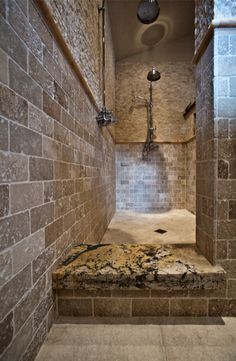 Rustic Master Bathroom With Walk In Shower Master Bathrooms With