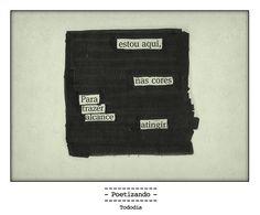 """Poesia """"achada"""" no jornal do dia 23/01 pela poeta Lilian Aquino."""