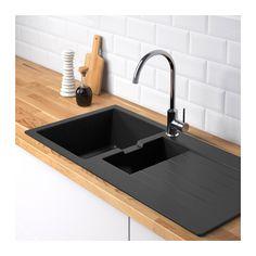 HÄLLVIKEN 1 1/2 bowl insert sink with drainer - IKEA