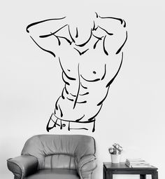 Vinyl Wall Decal Fitness Gym Sports Bodybuilding Decor Stickers Mural (ig3478)