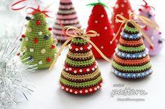 뜨개 크리스마스트리 모음 / 도안첨부 : 네이버 블로그. Adore these tiny Christmas trees