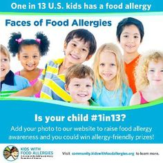 Spread Awareness with Faces of Food Allergies Photo-Sharing Campaign | Kids With Food Allergies