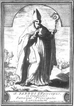G. Petroschi San Pardo incisione per libro del Tria 1741