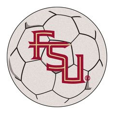 Fan Mats NCAA Collegiate Soccer Ball Rug - 2.25 diam. ft.