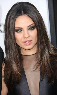 Hair Cut/Color on Mila Kunis - Love! See more hairstyles on http://bellashoot.com