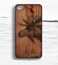 iPhone Moose Wood Pattern Case by Hello Nutcase on Scoutmob Shoppe Moose Pictures, Moose Decor, Whimsical Owl, Christmas Moose, Cute Presents, Iphone 5c Cases, Iphone 4, Wood Patterns, Gadgets And Gizmos