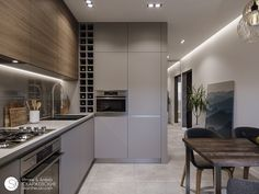 Kitchen Room Design, Modern Kitchen Design, Living Room Kitchen, Home Decor Kitchen, Fancy Kitchens, Luxury Kitchens, Home Kitchens, Modern Kitchen Interiors, Modern Home Interior Design