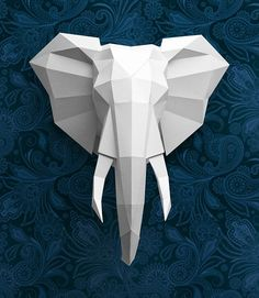 32 Inspired Picture of Origami Sculpture Art Origami Sculpture Art Presentation Of My New Sculpture Out Of Paper The Unfolded Origami Design, Origami Paper, Diy Paper, Origami Fish, Wall Ornaments, Origami Ornaments, Elephant Head, Origami Tutorial, Origami Instructions