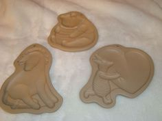 3 Disney Brown Bag Cookie & Candy Molds- Pooh Bear & Honey Pot, Eeyore, Piglet