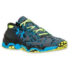 Men's Under Armour SpeedForm XC Trail Running Shoes  Finish Line   Black/High Vis Yellow/Electric Blue