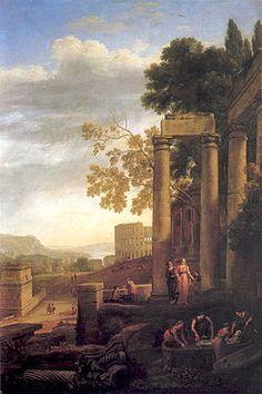 Paisaje con el entierro de Santa Serapia es un cuadro realizado por el pintor francés del Barroco Claudio de Lorena.  Data de los años 1639-1640.  Fue un encargo del rey de España Felipe IV para decorar el Palacio del Buen Retiro (en concreto para la Galería de Paisajes)