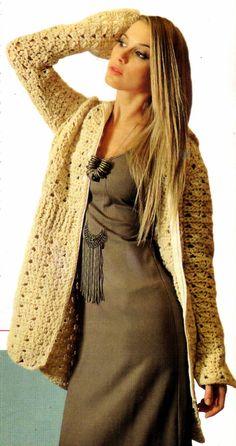 tejidos artesanales en crochet: campera tejida en crochet