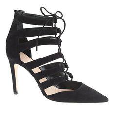 Suede lace-up cage pumps - pumps & heels - Women's shoes - J.Crew