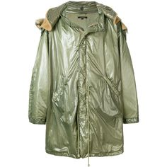 Yeezy oversized military parka (€985) via Polyvore featuring men's fashion, men's clothing, men's outerwear, men's coats, green, mens oversized coat, mens military style coat, mens green sport coat, mens military coat und mens parka coats