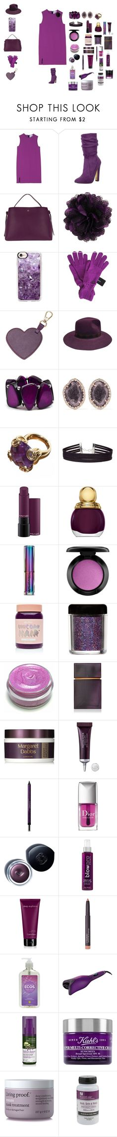 """""""Purple kisses on the phone"""" by sierracook14 ❤ liked on Polyvore featuring Acne Studios, Luichiny, Etienne Aigner, Casetify, Sonia Rykiel, Etro, Kim Rogers, Kimberly McDonald, Miss Selfridge and MAC Cosmetics"""