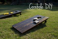 "Materials 32′ of 1×6 boards 24' of 2×3 studs 1.5"" screws (28 qty.) 2.5"" screws (16 qty.) #cornhole #games #lawn #outdoordiygames"