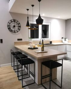 Ambrosial Kitchen design layout sample tricks,Small kitchen remodel ideas 2018 tips and Small eat in kitchen remodel. Home Decor Kitchen, Interior Design Kitchen, Kitchen Furniture, Kitchen Dining, Kitchen Ideas, Kitchen Inspiration, Diy Kitchen, Kitchen Hacks, Kitchen Modern