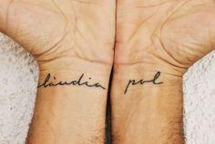 signerica font wrist tattoo