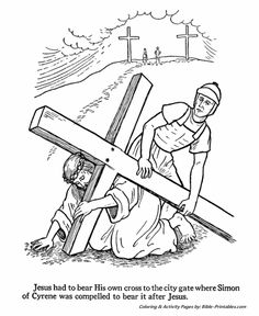 Easter Bible Coloring Pages 14