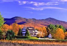 A destination in the White Mountains since 1863, the Franconia Inn is a veritable playground of outdoor activities. There's horseback riding, hiking, fishing, glider rides, and more on-site, so you can keep fall colors with eyesight all day, no matter what you're doing.