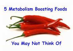 5 Metabolism Boosting Foods You May Not Think Of