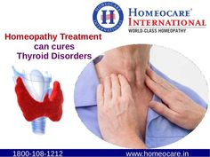 Thyroid is a Gland. It is located in middle of your neck. The main responsibility of thyroid is maintaining Metabolism, nerve system, brain and muscle development, body temperature. Thyroid may occurred in two types hypothyroid, Hyperthyroid. These thyroid problems cured with the help of homeopathy treatment without side effects. Homeocare International is a best homeopathy clinic it provides thyroid treatment in homeopathy.