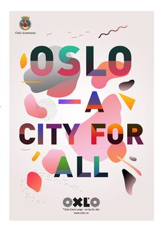 Oslo kommune by Christina Magnussen Pleasing. Cheerful on a snowy Oslo day. Graphic Design Posters, Graphic Design Typography, Graphic Design Inspiration, Design Graphique, Art Graphique, Oslo, Cultura Maker, Layout Design, Print Design