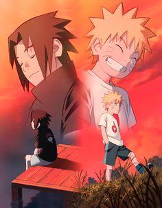 """And you never gave up on me, coming closer when I pulled away """" — Sasuke Uchiha to Naruto Uzumaki ღ Naruto Shippuden Sasuke, Anime Naruto, Boruto, Manga Anime, Kid Naruto, Naruto Team 7, Naruto Cute, Naruto Sasuke Sakura, Gaara"""