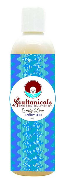 Natural Hair Care, Natural Beauty Products, Natural Skin Care- Soultanicals- Curly Dew Earthy Poo