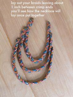 braided t-shirt jewelry tute