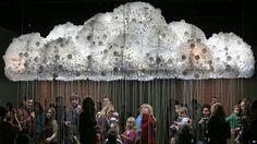 Art Experiment - cloud of lightbulbs