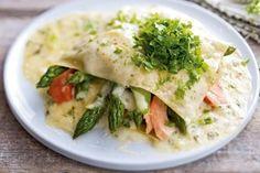 Lasagnetaschen mit Spargel und Stremellachs Rezept